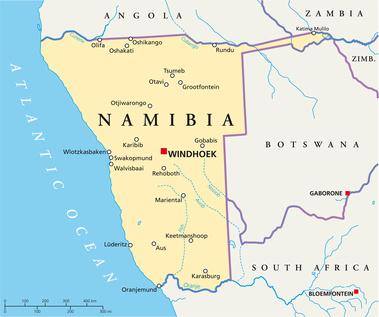 Namibia Map Namibia Landkarte - Namibia map