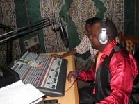Inside the studio during a farming programm at Radio Boma-Hai, Arusha, Tanzania c Farm Radio International