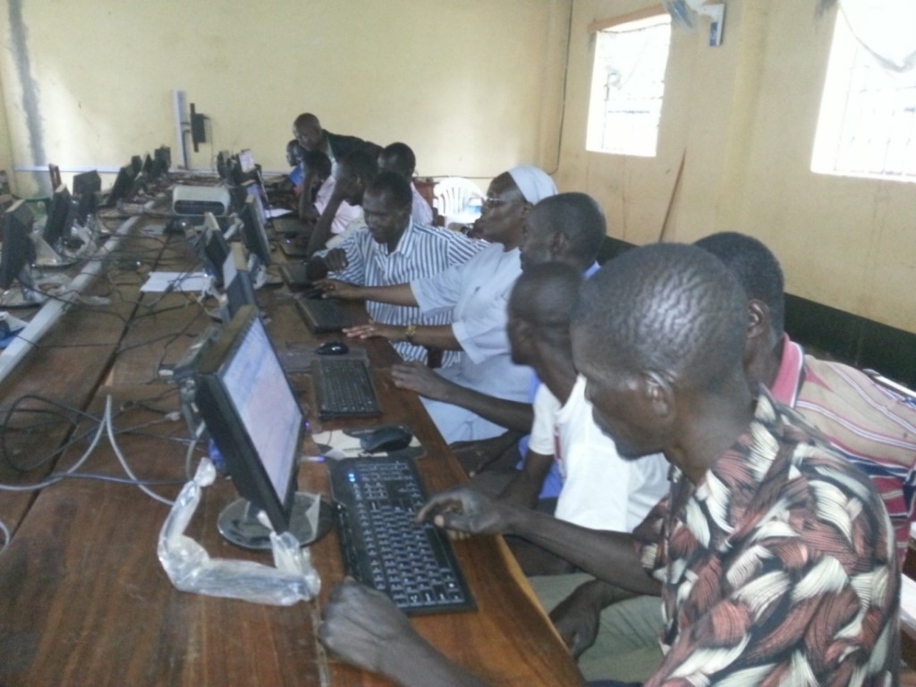 Community leaders being trained in ICT skills
