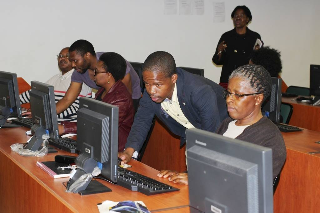 NUL staff using THUTO -- An Interactive Online Platform for Staff and Students