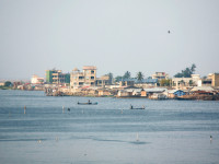 Cotonou sits on the Bight of Benin